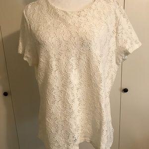 Ralph Lauren ivory lace top